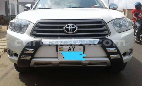 Acheter Occasion Voiture Toyota Highlander Blanc à Lomé, Togo