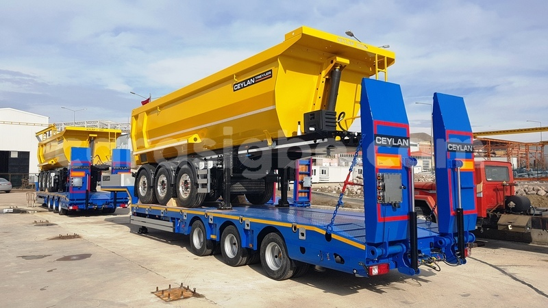 Big with watermark 3 axle low bed and 3 axle tipper