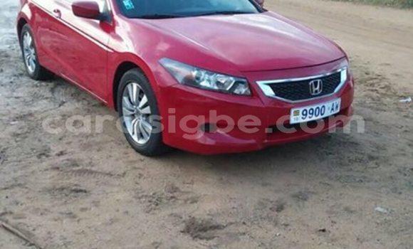 Acheter Occasion Voiture Honda Accord Rouge à Lomé, Togo